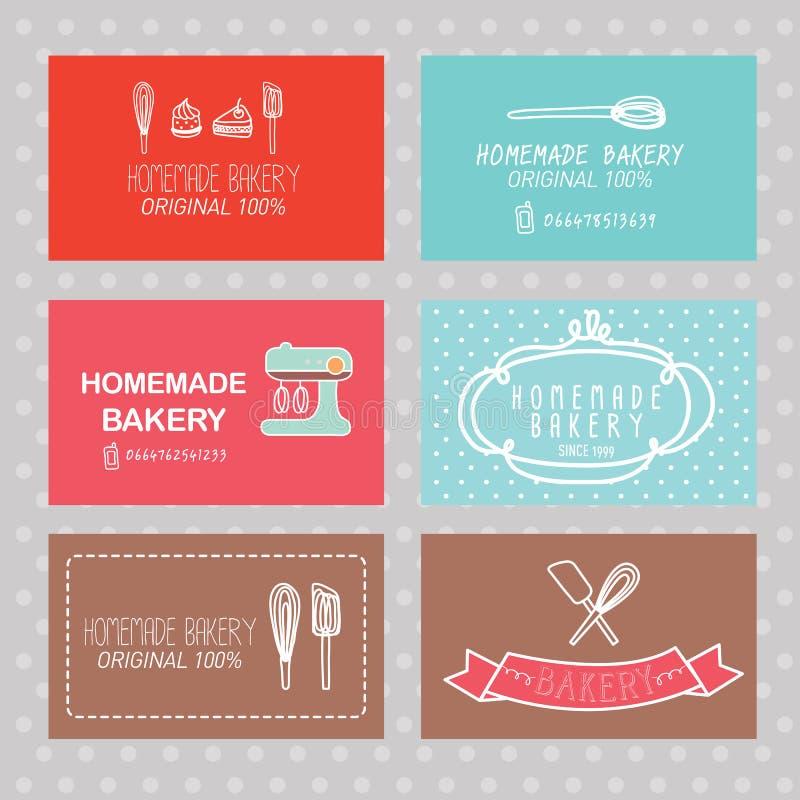 Bakery business card stock vector. Illustration of frame - 45232738
