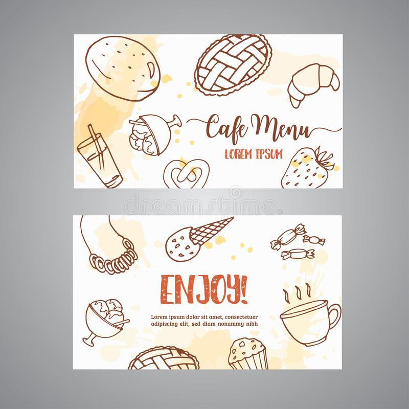Bakery Business Card Template With Pastries. Sweet Pastry, Cupcakes ...