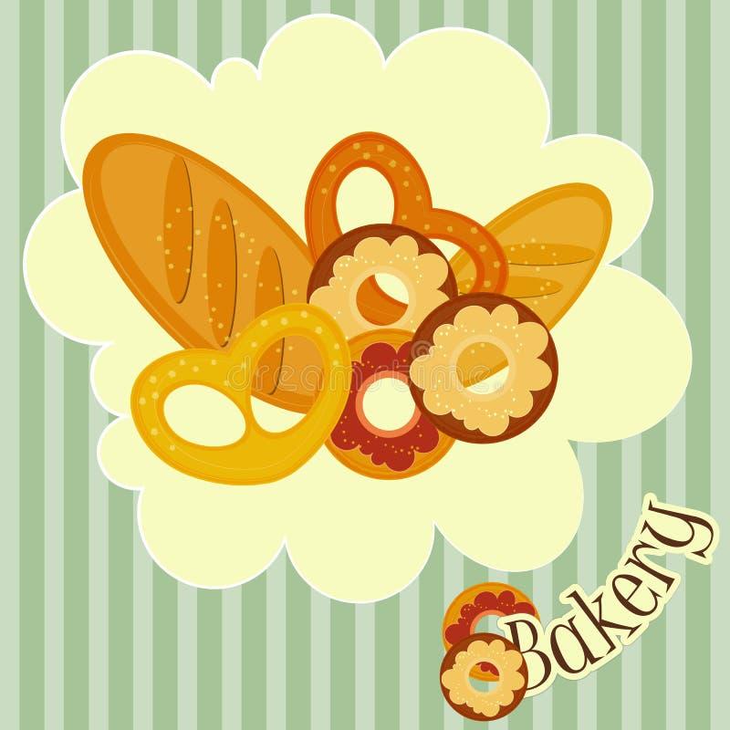 Download Bakery Card stock vector. Illustration of label, donut - 24774820