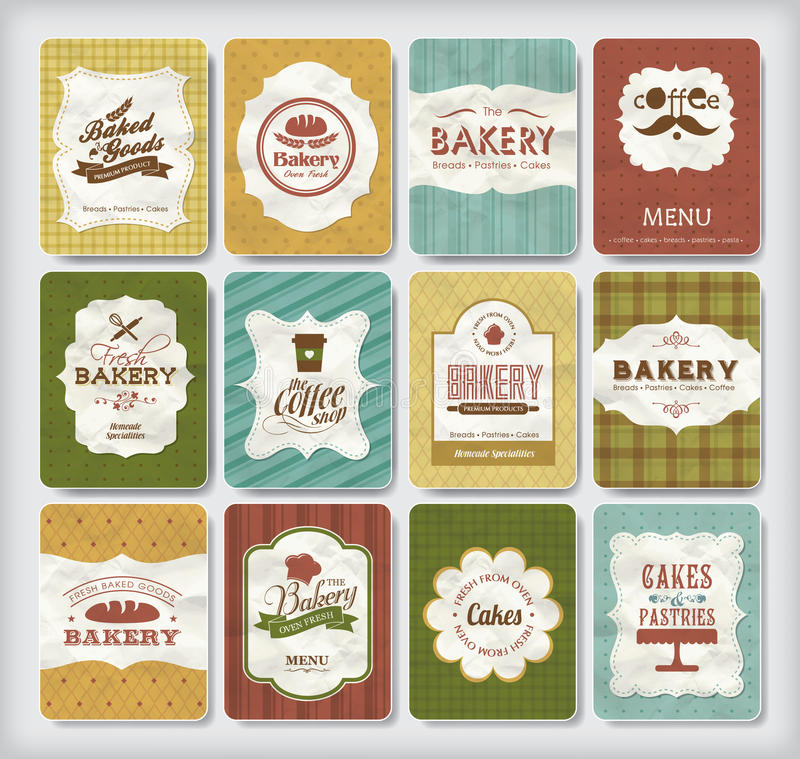 Bakery design elements royalty free illustration