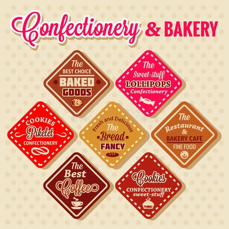 Bakery design elements royalty free illustration