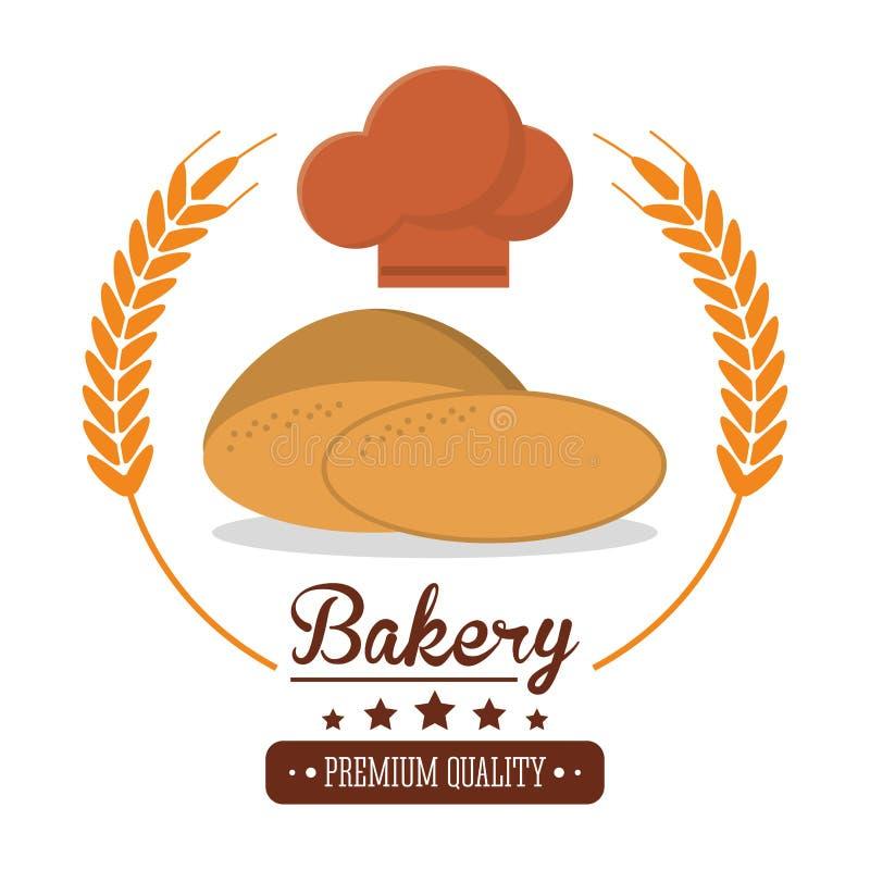 Bakery fresh bread premium quality label royalty free illustration
