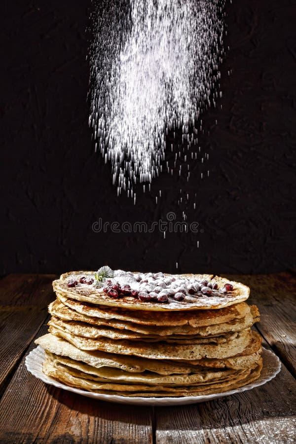Pancakes, bakery, authentic, homemade russian france snack e. Bakery. Fresh bakery. Pancakes. International Pancake Day on 28 February. Russian pancakes royalty free stock photography