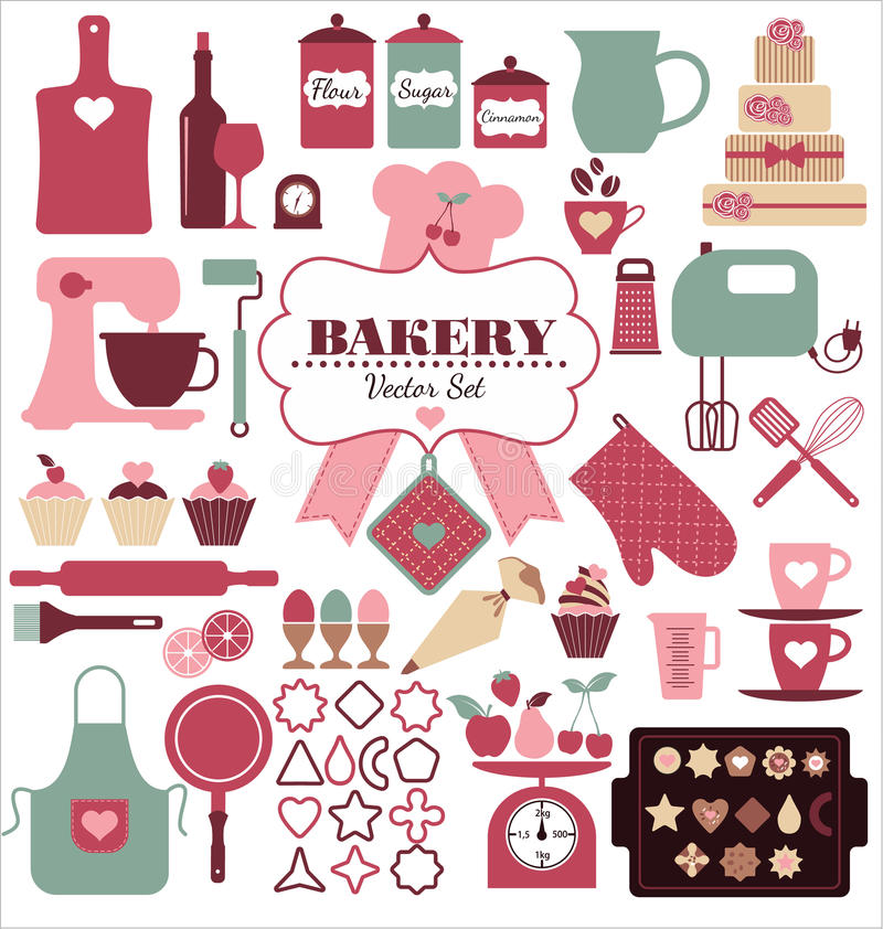 Free Bakery Icon Set. Royalty Free Stock Photo - 43576255