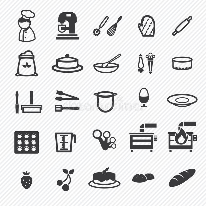 Bakery icons set. illustration stock illustration