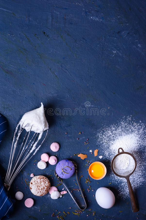 Baking or cooking background.Ingredients, kitchen items.Ingredients, top view. stock photography