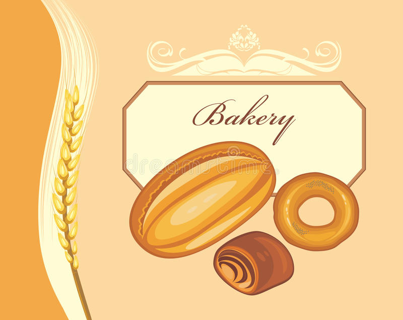 Bakery. Label for bakery shop design royalty free stock photography
