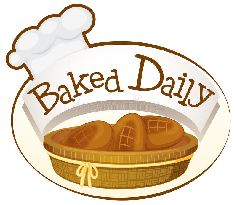 A bakery label. Illustration of a bakery label on a white background vector illustration