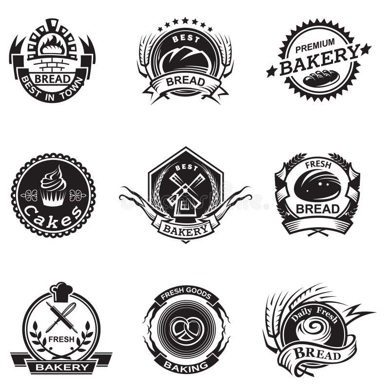 Download Bakery labels set stock vector. Image of pastry, grinder - 33537854