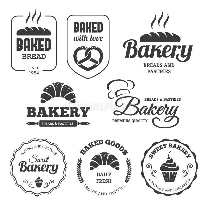 Bakery labels 2 vector illustration