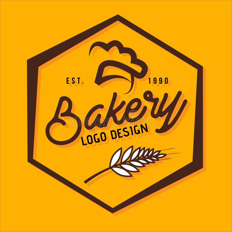 Bakery logo design polygon stock illustration