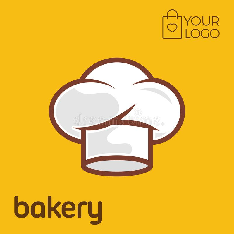 Bakery Logo icon flat design, Vector illustration banner stock illustration