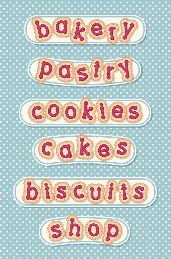 Bakery, pastry, cookies, cakes, biscuits and shop royalty free stock images