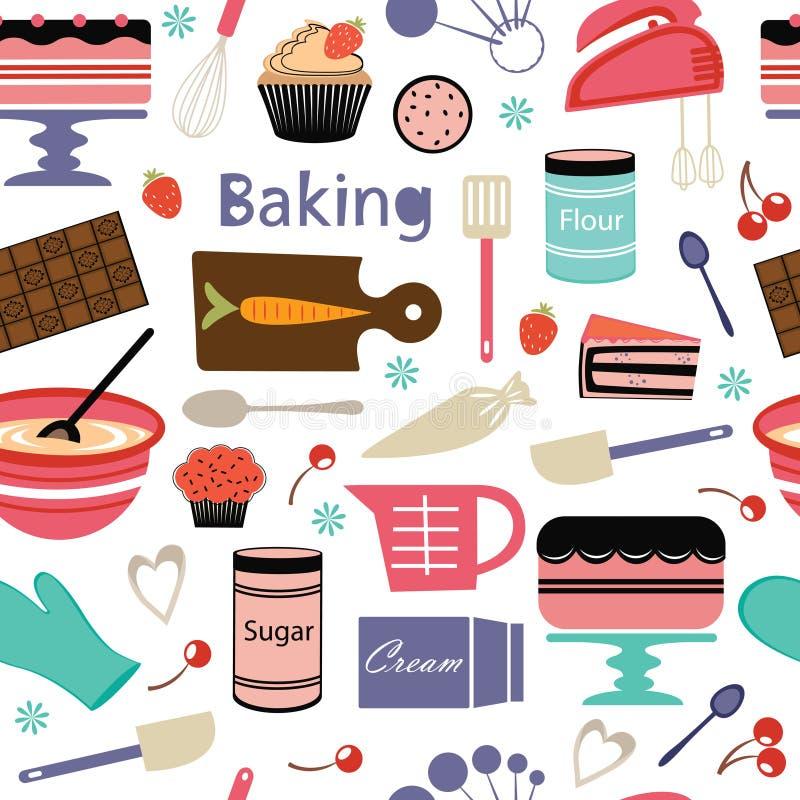 Bakery pattern vector illustration