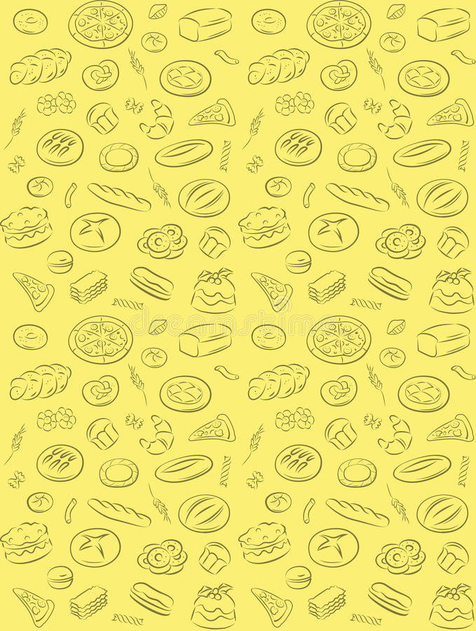 Download Bakery pattern stock vector. Image of drawing, grain - 35291668