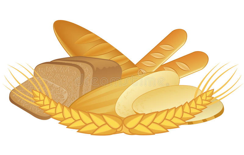 Download Bakery products stock vector. Image of white, loaf, pastry - 26023637