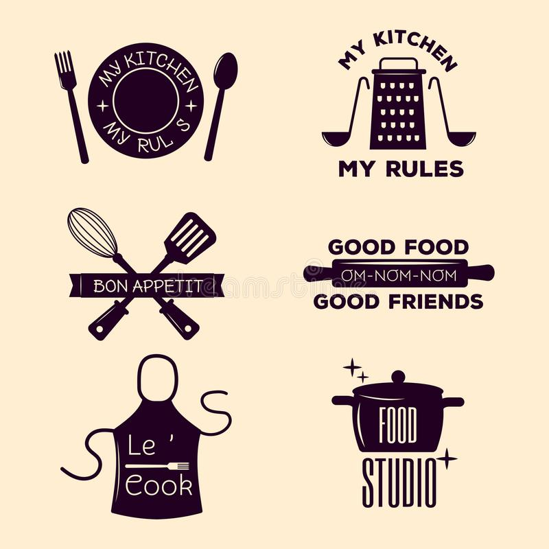 Bakery Shop Badges And Cooking Labels Design Classic