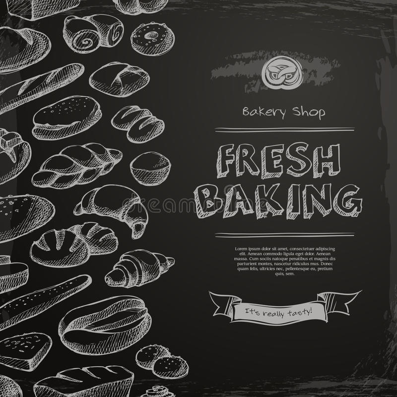 Bakery shop menu royalty free illustration