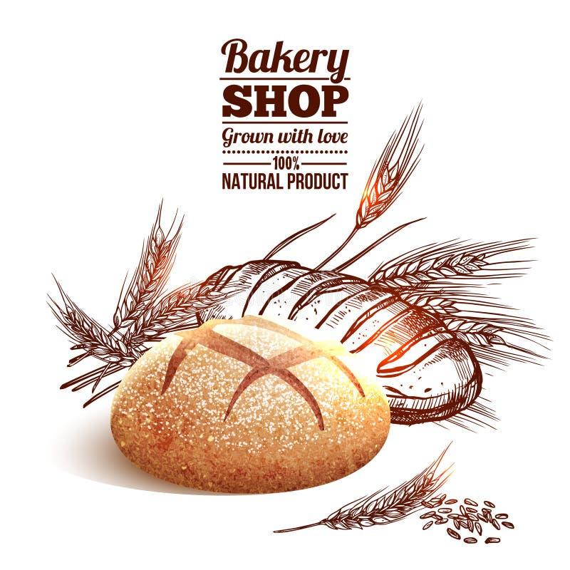 Bakery Sketch Concept stock illustration