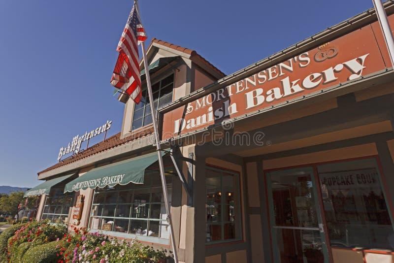 Bakery, Solvang, California stock photos