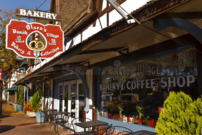 Bakery, Solvang, California stock photography