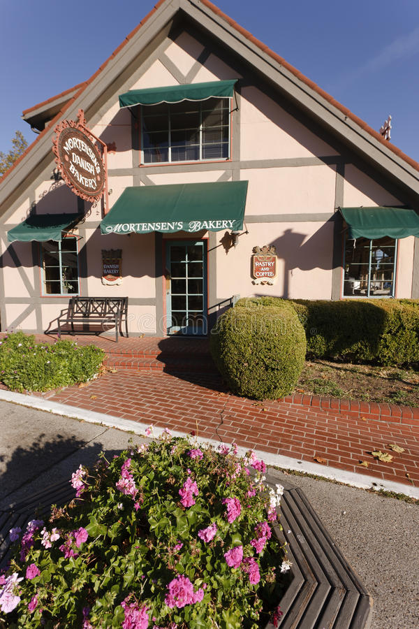 Bakery, Solvang, California. Founded by Danish immigrants in 1911, the city of Solvang (sunny fields) draws tourists from all over the world offering Danish stock images