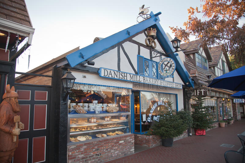 Bakery, Solvang, California stock images