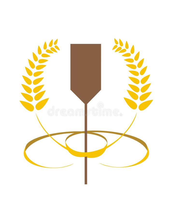 Bakery Spoon and Wheat stock illustration