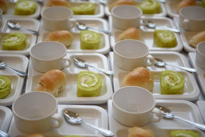 Bakery tray for coffee royalty free stock photos