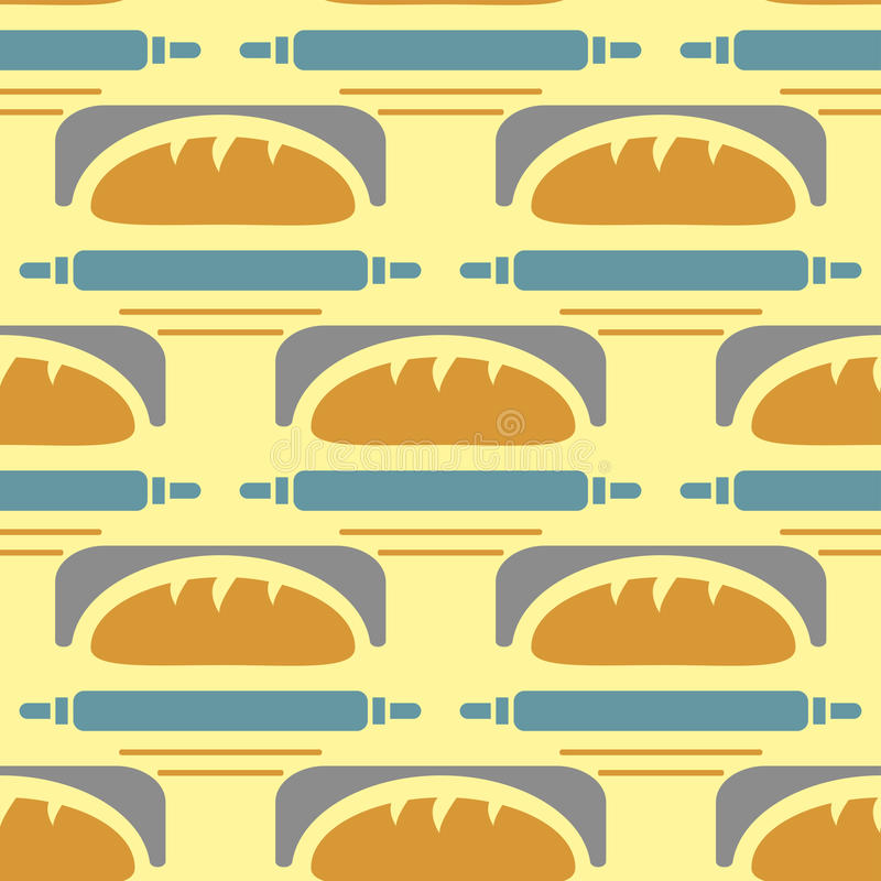 Bakery vector illustration seamless pattern wheat tasty loaf drawing graphic meal pastry food background. Organic baking cooking grain bagel wallpaper royalty free illustration