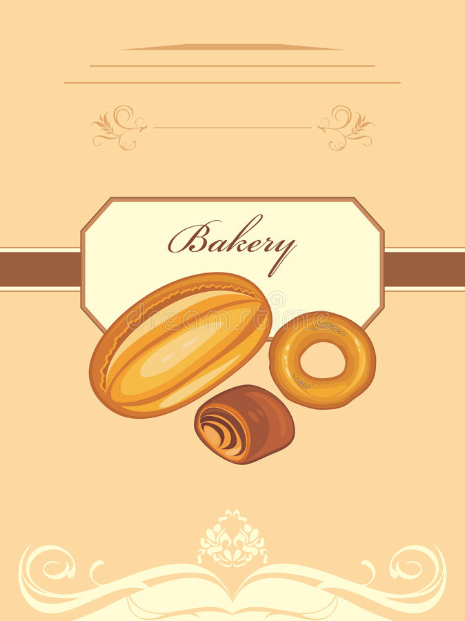 Bakery. Wrapping design stock image