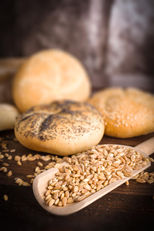 Download Bakes breads and cereals stock image. Image of rose, table - 25851595