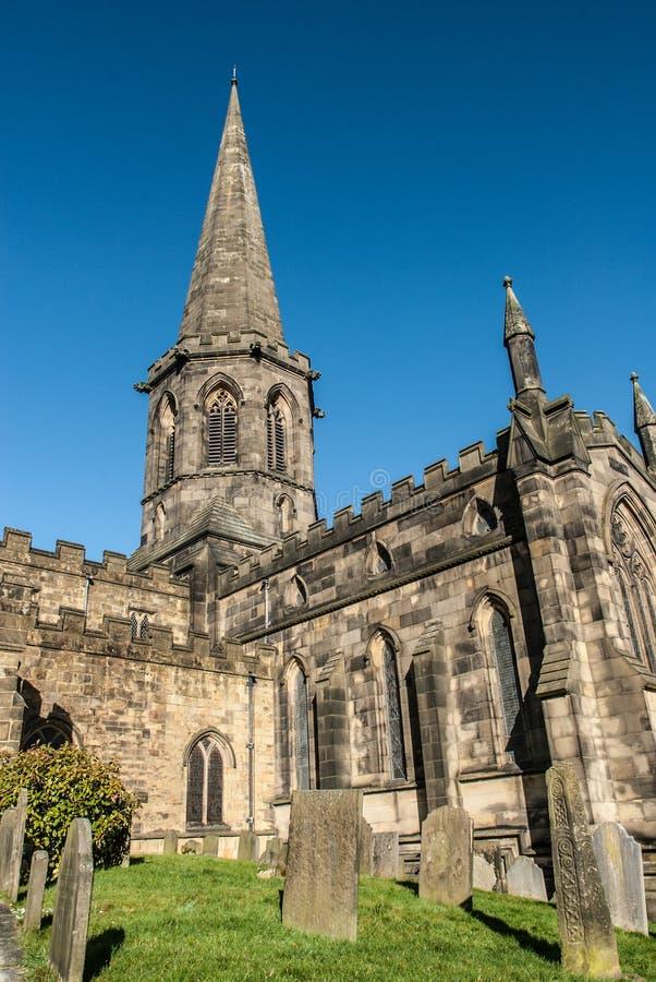 Bakewell kyrka arkivbild