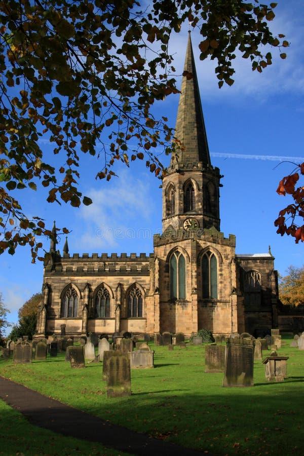 bakewell kyrkliga derbyshire arkivbild