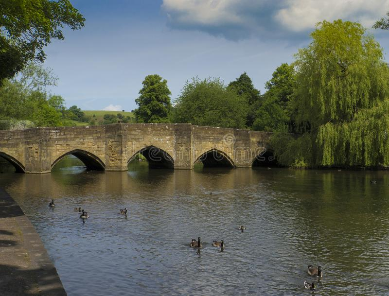 Bakewell most, Derbyshire, Anglia obraz royalty free