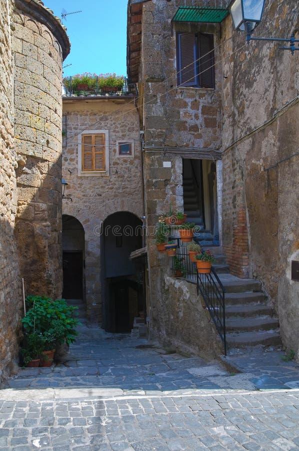Download Bakgata. Capranica. Lazio. Italien. Arkivfoto - Bild av bostads, utomhus: 27277558