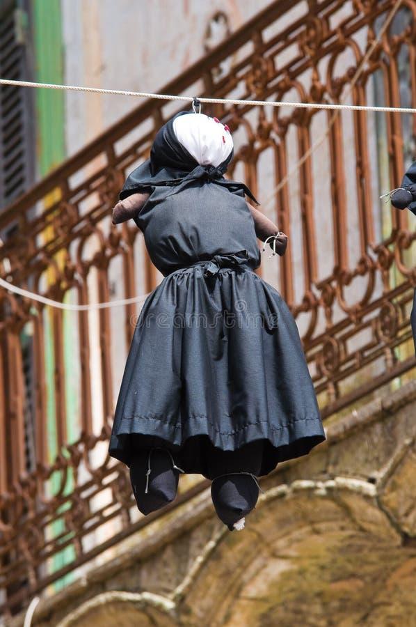 Bakgata. Montescaglioso. Basilicata. Italien. royaltyfri foto