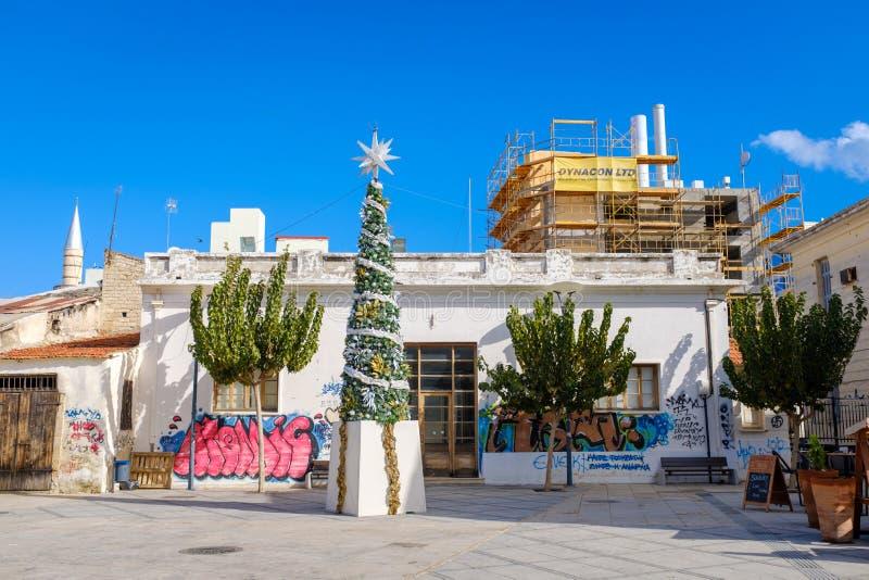 Bakgator av Limassol royaltyfri foto