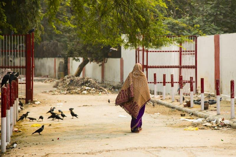 Bakgator av stads- Delhi, Indien royaltyfri fotografi