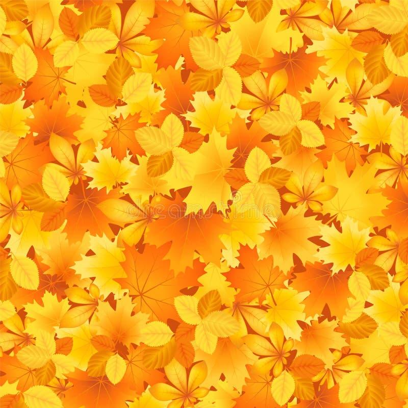 Bakground de las hojas de otoño ilustración del vector