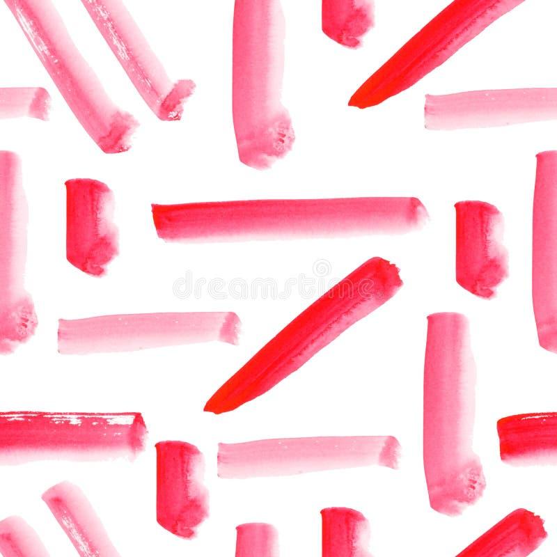Bakground senza cuciture dei colpi della spazzola del modello dell'acquerello dell'estratto illustrazione di stock