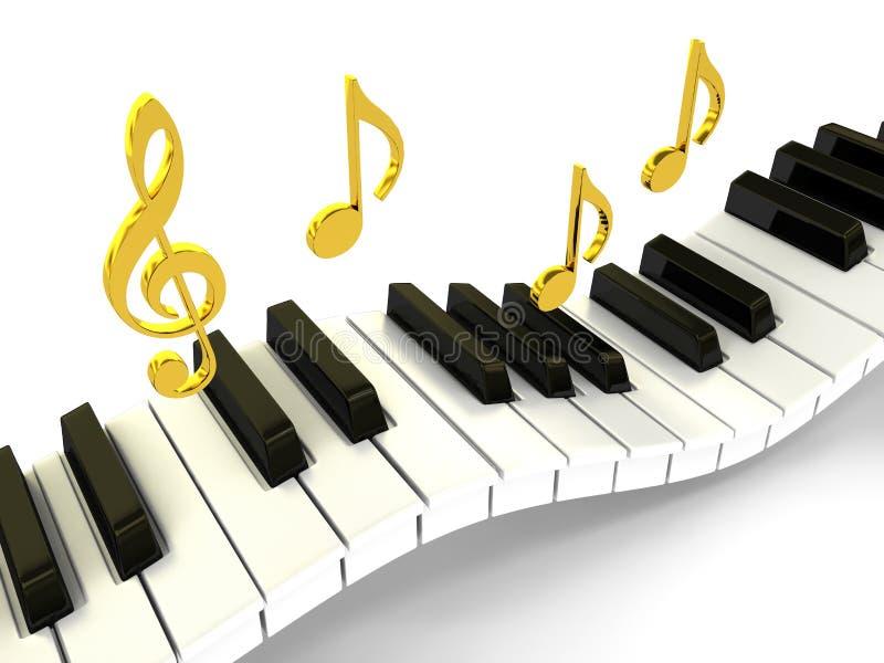 bakgrund över piano royaltyfri illustrationer