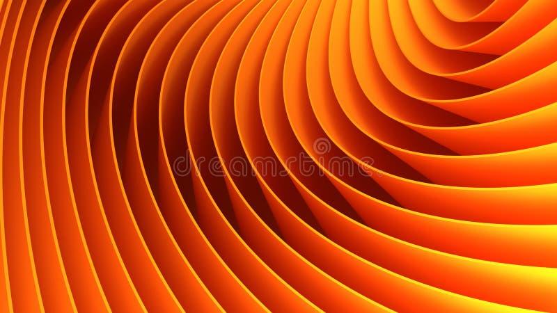 bakgrund 3d lines orangen vektor illustrationer