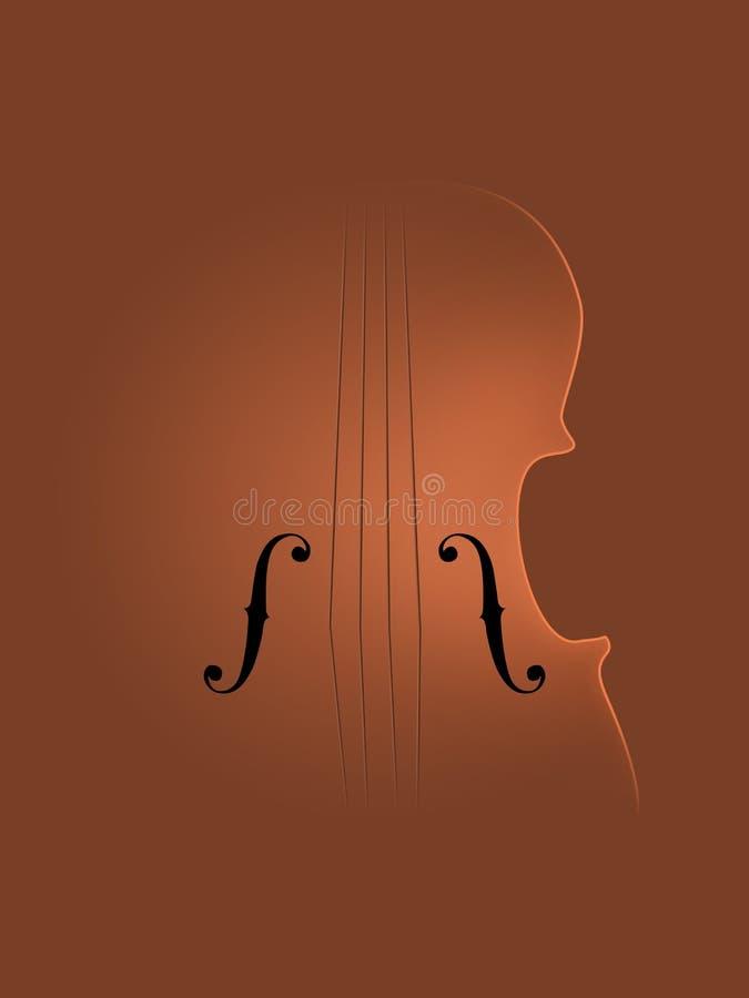 Bakgrund Art Violin stock illustrationer