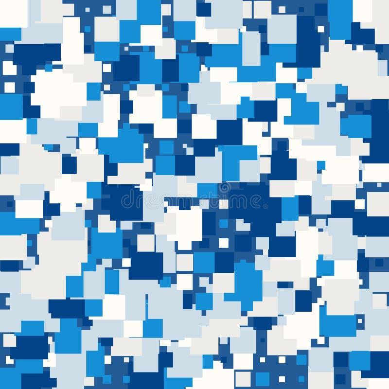 Bakgrund av abstrakt textur med fyrkanter stock illustrationer