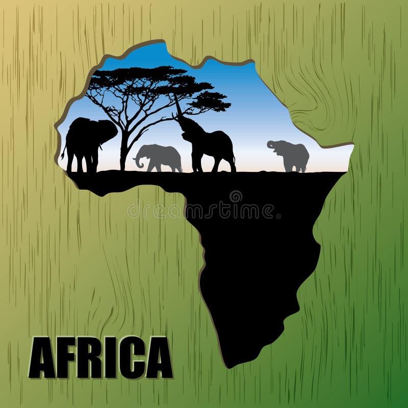 Bakgrund av Afrika royaltyfri illustrationer