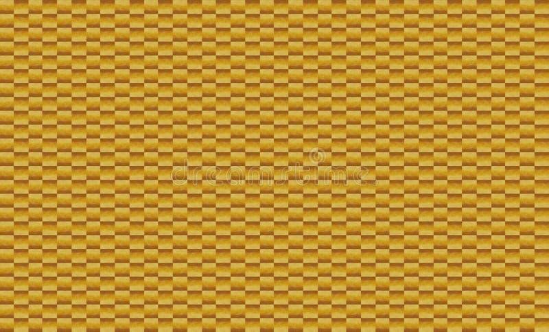 Bakgrund av beståndsdelar av små tegelplattor för fyrkantbruntmosaik arkivfoto