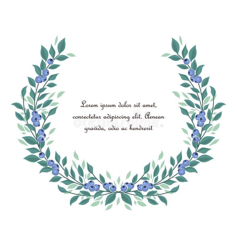 Bakgrund av blåbärfrukt royaltyfri illustrationer