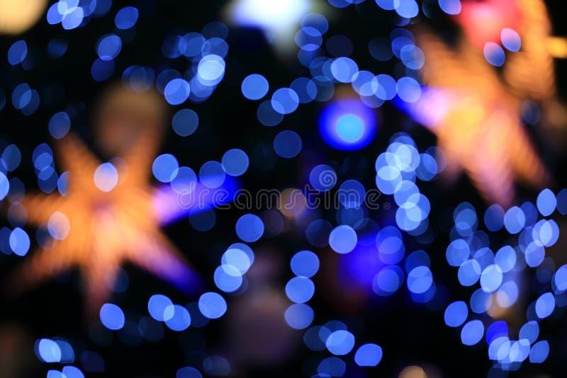 Bakgrund av Bokeh från julljus royaltyfria bilder