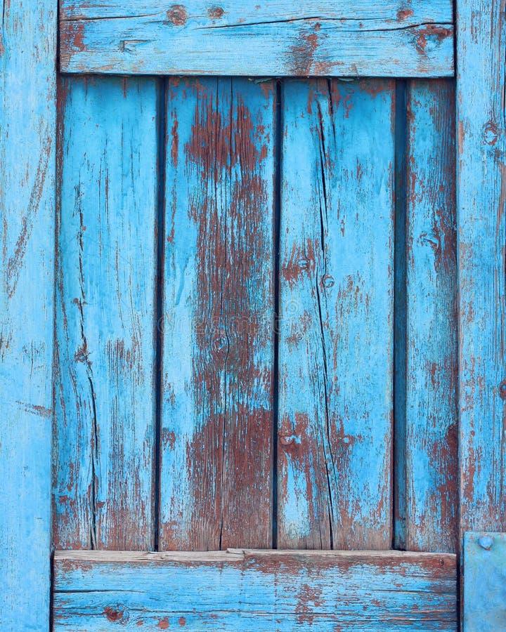 Bakgrund av bräden, blå grungetextur, träbakgrund arkivfoto